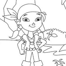 Small Picture Izzy the Vice Captain of Never Land Pirates Coloring Page Izzy