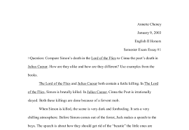compare simon s death in the lord of the flies to cinna the poet s  document image preview