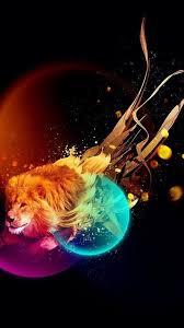 Lion Galaxy Wallpaper on WallpaperSafari