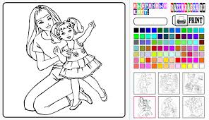 Barbie Colouring Games Online 14453 Bemyvoicehawaii Org Coloring
