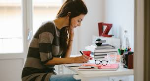 woman working in home office amazing home offices women