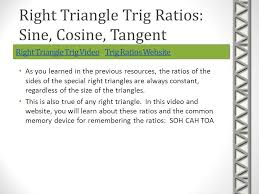 trigonometry right triangle and trigonometric functions ppt  right triangle trig videoright triangle trig video trig ratios websitetrig ratios websiteright triangle trig videoright triangle