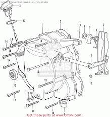 Honda cb350f four italy right crankcase cover clutch lever right crankcase cover clutch lever parts list kawasaki parts diagram voltage regulator wiring