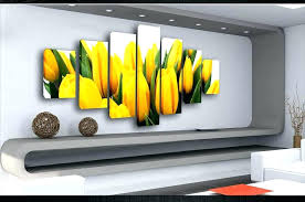 yellow and gray wall art huge extra large canvas pictures tulips split multi black d yellow gray wall art