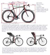 Bike Fitting Chart Bicycle Bicycle Fitting Guide