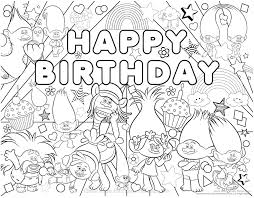Small Picture 30 Printable Trolls Movie Coloring Pages