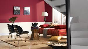 Red Living Room Paint Living Room Living Room With Red And White Wall Paint And Black