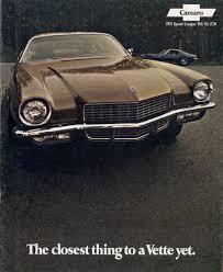 GM 1971 Chevrolet Camaro Sales Brochure