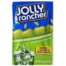 jolly rancher unsweetened drink mix sachet green apple 0 23oz 6 5g