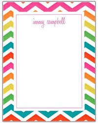 Small Picture Chevron Multi Color Border StationeryNotepad RockPaperScissors