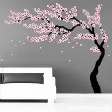 oriental cherry blossom tree wall art
