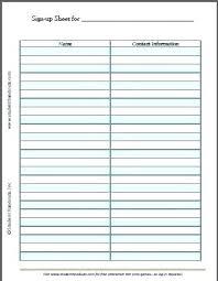 Parents Sign In Sheet Volunteer Sign Up Sheet Printable Free Printable Blank Sign Up Sheet