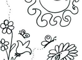 Preschool Coloring Pages Spring Free Printable Preschool Coloring