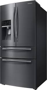 samsung black stainless steel fridge. Brilliant Fridge Samsung RF25HMEDBSG  Front View Black Stainless Steel   Inside Fridge O
