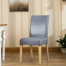 chair covers for home. ROMANZO Home Use Hotel Chairs Thick Waterproof Stretch PU/PVC Dining Chair Covers One Piece For