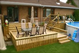 wood patio with pool. Above Ground Pools With Decks Patio Design Wooden Pool Deck Railings Outdoor  Furniture Wood Patio With Pool E