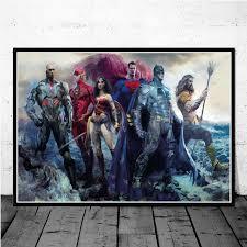 prints comic superhero oil painting
