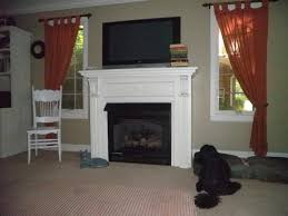 vent free gas fireplace with mantel