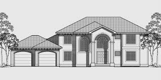 Mediterranean House Plans  Luxury House Plans  House front drawing elevation view for Mediterranean house plans  luxury house plans  walk