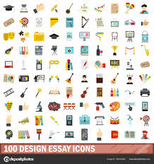 design essay icons set flat style stock vector © ylivdesign  100 design essay icons set in flat style for any design vector illustration vector by ylivdesign