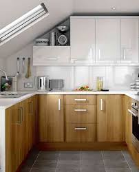 ... Design With Bright Nuance Interesting Tiny Kitchens Ideas in Modern  Living Space : Wooden Kitchen Cabinet Wihte Cabinet In Modern ...