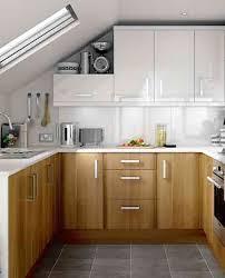 wooden kitchen cabinet wihte cabinet in modern small kitchen design image
