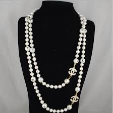 chanel necklace. chanel pearl necklace c