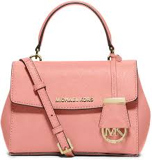 michael michael kors michl michl kors ava extra small saffiano leather satchel bag pale pink
