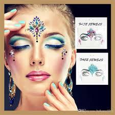 diy beauty acrylic diamond decoration masquerade makeup stickers bling fashion crystal face tattoo sticker hot 4 5yy z birthday party theme supplies