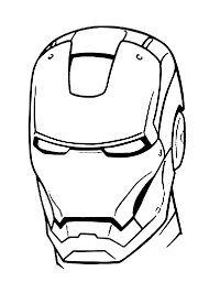 Iron Man Mask Coloring Pages For