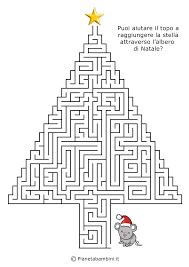 Labirinti Per Bambini Dedicati Al Natale Da Stampare Idee Carine