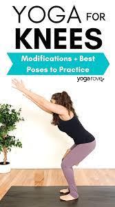 yoga modifications for bad knees yoga