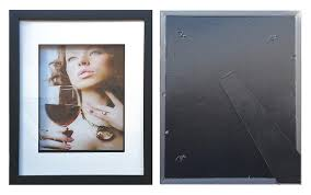 8 x10 black shadow box frame mat inside suits 5 x7 picture with clear glass stand