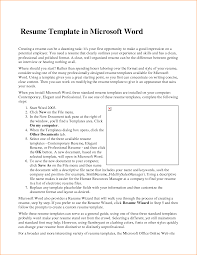 Microsoft Word Resume Template Free Resume Example And Writing