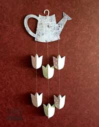 Paper Flower Mobiles Watering Can Tulip Paper Flower Mobile Suzerspace