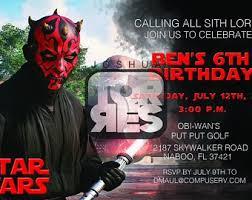 Star Wars Birthday Invitations Printable Kylo Ren Invitation Star Wars Birthday Invitation Printable Etsy
