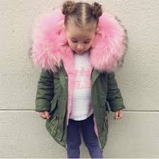 family matching fur coat parkas winter super big fur collar kids jackets coats removable rabbit fur liner children thick warm hooded matching mother and son