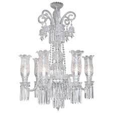 monumental baccarat style bohemian crystal two tier chandelier for