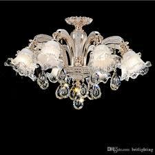 european style hotel crystal chandelier living room bedroom chandelier dining room lamp simple modern atmosphere duplex floor pndant lights farmhouse