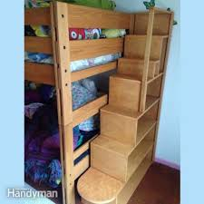 bunk bed with stairs plans. Bunk Bed Plans: 21 Designs And Ideas | Family Handyman Throughout Storage Steps For With Stairs Plans