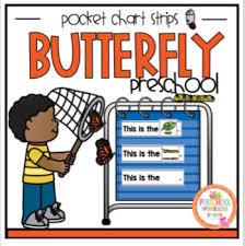 Butterfly Life Cycle Strips For Pocket Chart