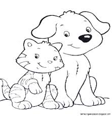 Image Coloring Pages Cats And Dogs 87 For Your Pictures With