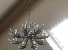next 8 light antler chandelier