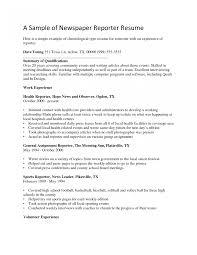 Internship Resume Examples Cover Letter Broadcast Journalism Internship Resume Sample 97