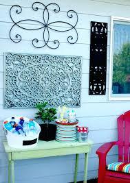 cosy outdoor art decor patio wall decor