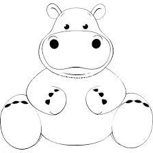 Hippopotamus Coloring Pages Hippopotamus Coloring Page Hippopotamus