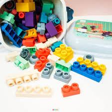 Đồ chơi lắp ghép Lego nhựa dẻo 50 chi tiết ( Từ 1-3 tuổi) chính hãng  232,000đ