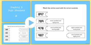 Number Flip Chart Reading 3 Digit Numbers Flipchart Matching Activity Numeracy