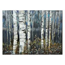 Canvas Art Lailas Ili142 11f Birch Trees Canvas Art Lowes Canada