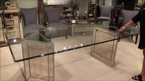 bassett mirror dining table. Murano Double Pedestal Mirrored Dining Table By Bassett Mirror Company | Home Gallery Stores - YouTube